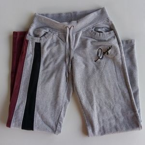 ENYCE SWEATPANTS GRAY BLACK RED VELVET SMALL